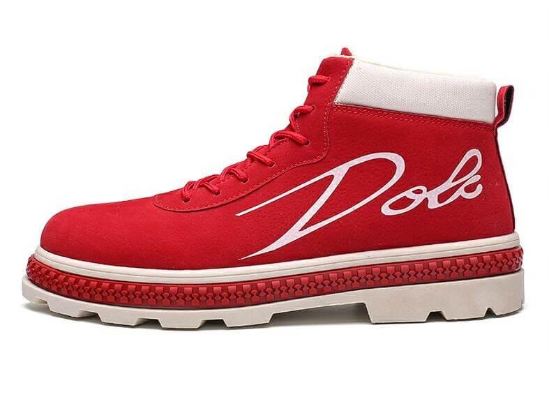 Soft Flock velvet Men Brand Ankle Boots Breathable Men Leather Boots High Top Shoes Outdoor Casual Men Winter Shoes Botas Homme