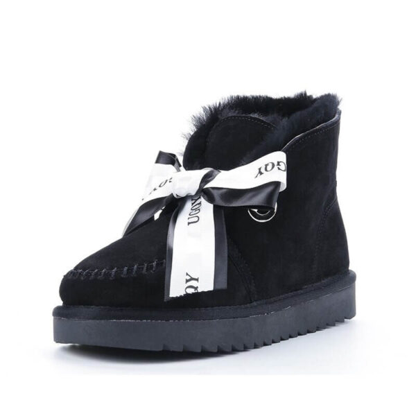 Women Boots Genuine Leather Cowhide High Quality Winter Snow Boots Real Wool Fur Australia Classic Woman Ankle Boots Warm Size