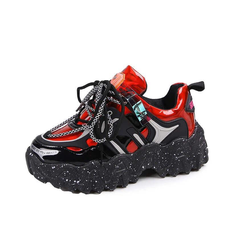 Reflective Women Sneakers Fashion Dad Shoes White Chunky Sneakers Platform Sneakers Womens Vulcanize Shoes Tenis Feminino 2020