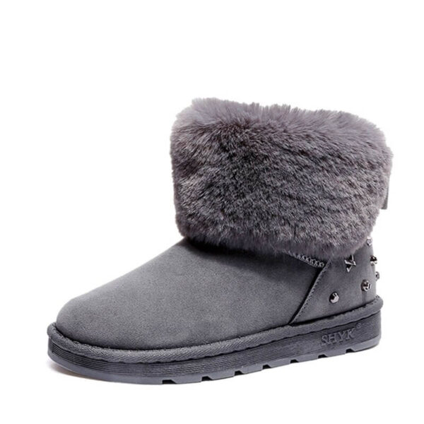 Winter Women Boots New Style Thickened Female Snow Boots Bottom Flat Warm Waterproof Women Snow Boots