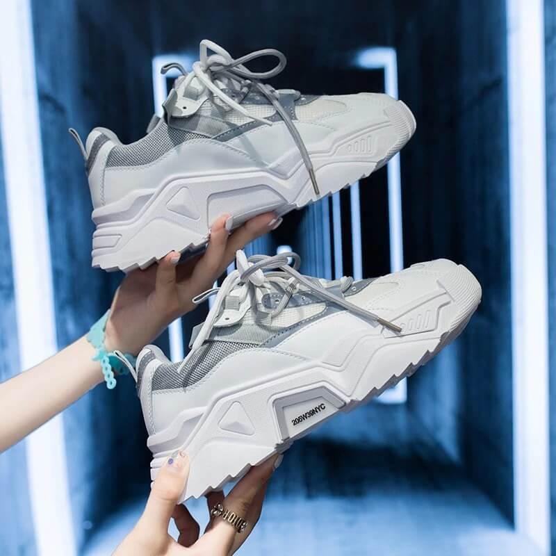 Women Platform Chunky Sneakers Designers Fashion Lace Up Casual Shoes Woman Tennis Basket Female Autumn Vulcanized Shoes 2020