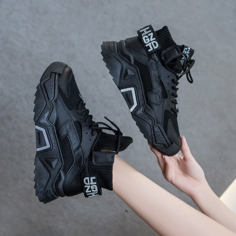 Women Sneakers Shoes Casual Platform Shoes Fashion Breathable Thick Sole Tenis Baskets Femme 2020 High Top Chunky Sneakers Woman