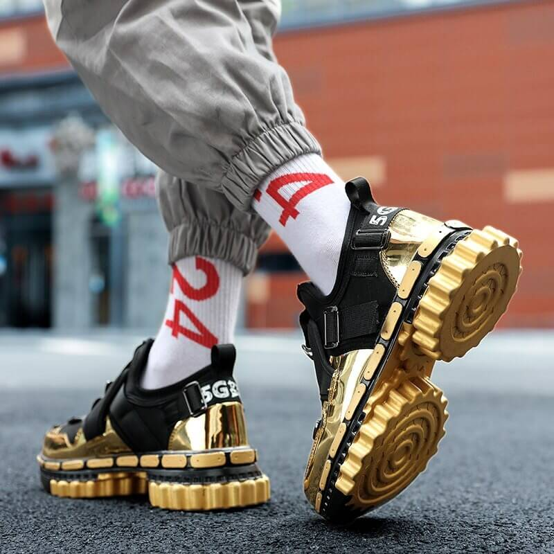 TUINANLE Platform Sneakers Women Gold 2020 Men Chunky Sneakers Fashion Shoes Black Wedge Men Breathable Running Colorful Sneaker