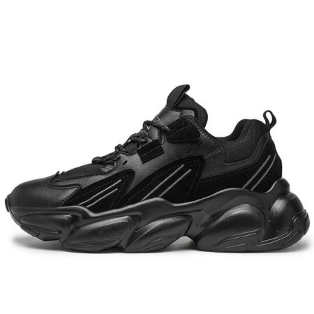 Men Shoe Chunky Luxury Comfortable, shoe men Glossy Thick Sole, Sports Shoe Trainers Running
