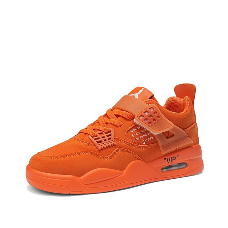 Hot Sale Young Boy Casual Sneakers Air Design Big Boy Running Shoes Orange Leather Sport Shoes For Boy Fashion Children Sneakers