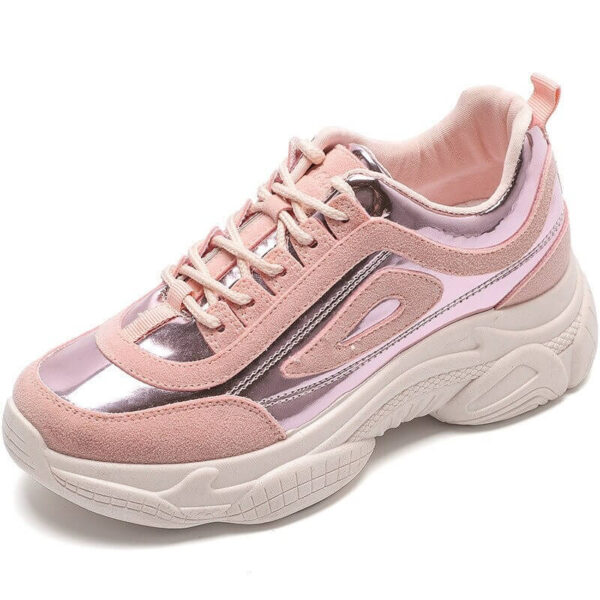 Air Zapatillas Hombre Deportiva Sneakers 2019 New Women's Shoes Laser Stitching Bright Face Small Thick-soled Old Sports