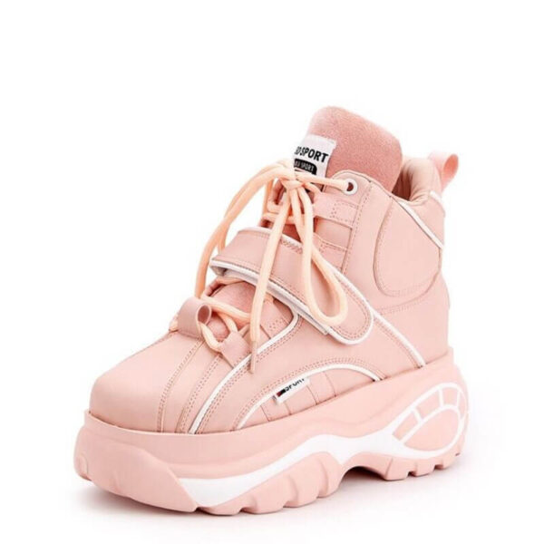 New Super fire women's boots fashion high-top Height casual increasing women Booties autumn winter thick-soled Female sneakers