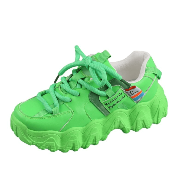 Platform Women Sneakers white Green running Shoes 2020 Women Thick Sole Tennis Chunky Shoes Basket Femme women sports shoes