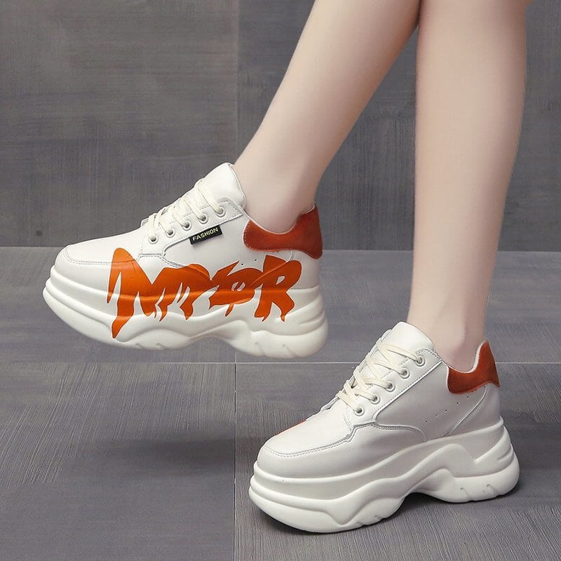 Designer Sneakers Woman Casual Platform Shoes Fashion Brand Height Increasing Ladies Shoes Chunky Sneakers Woman Zapatilla Mujer