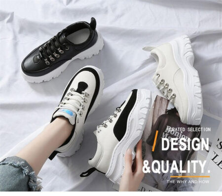 Sneakers Direct Selling Women Rubber Leather Breathable Eva Solomons Shoes 2019 Spring New Sports Casual Shoes Women's Fashion