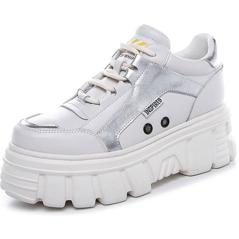 Women shoe winter new leather, fashion small white shoe women comfortable thick bottom non-slip