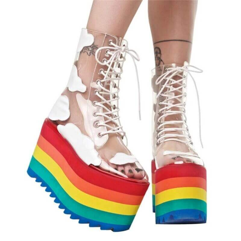 RAINBOW ANKLE BOOT HIGH HEELS FOR WOMEN- NEVADA™
