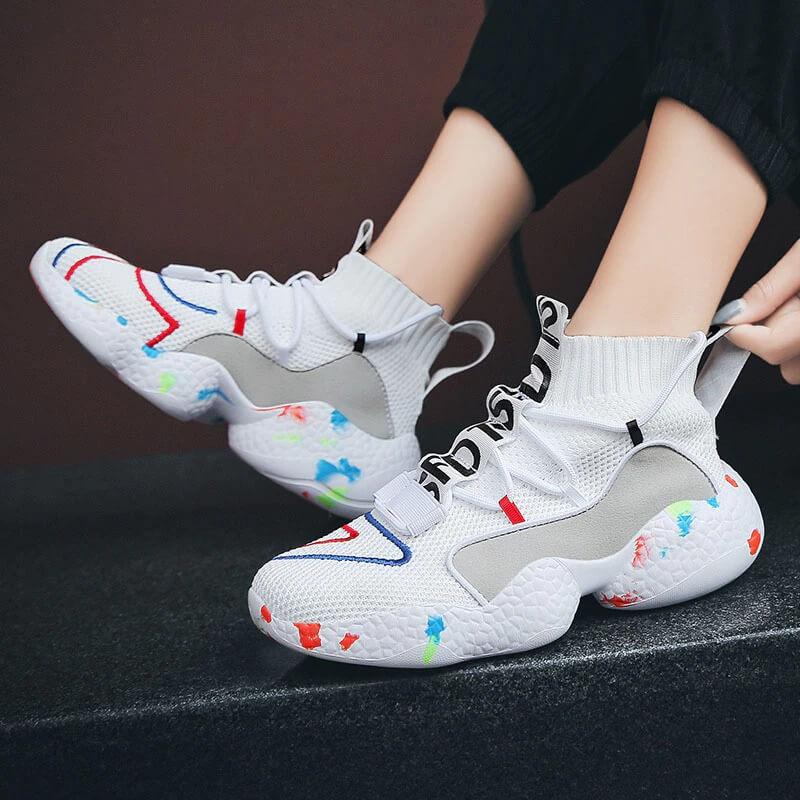Women Nevada Sock Shoes Fashion Casual Designer Breathable High Top Platform.
