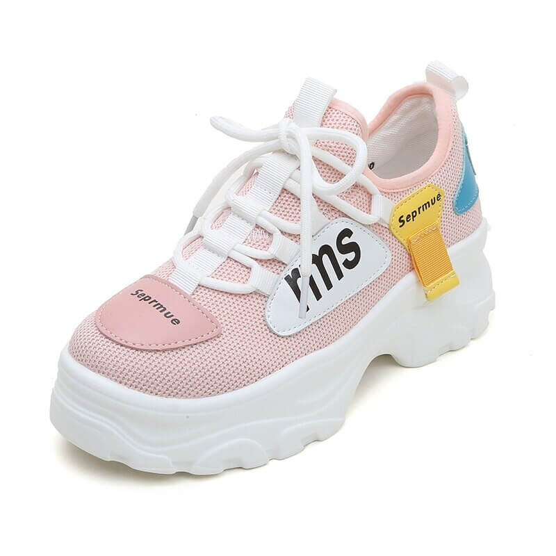 Upper Platform Sneakers Women Thick Sole Casual Shoes Woman Chunky Sneakers