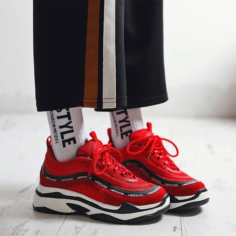 Women nevada Vintage Women Sneaker Trendy Leisure Platform Shoe Cross-tied Breathable