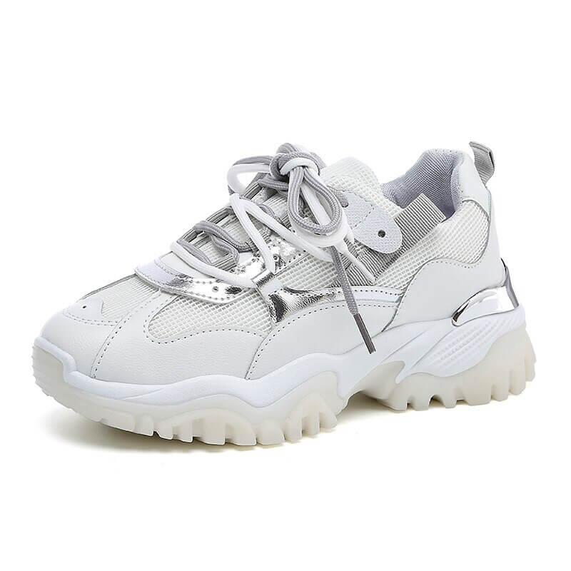 women nevada New Fashion Reflective Chunky Sneaker Platform Casual Shoes Women Sneakers