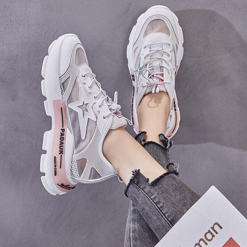Women nevada Genuine Leather Summer Sneaker Height Increasing