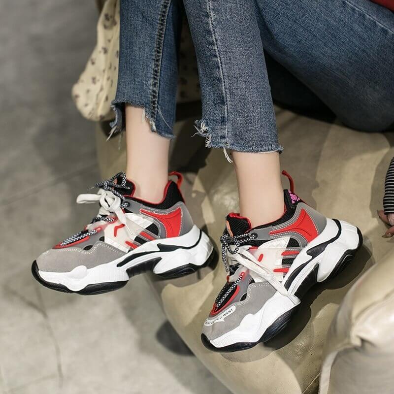 Women Nevada Sneaker New Fashion Suede Leather Chunky Trainer Street Style Female Footwear
