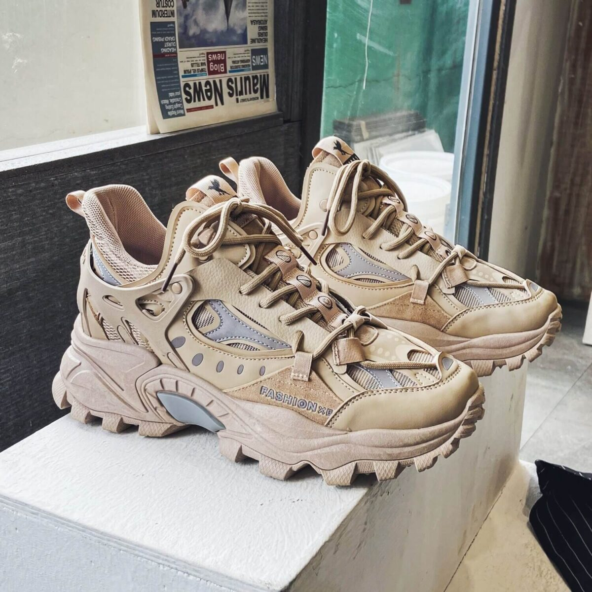 High Fashion Chunky Sneakers Men Zapatos Hombre Thick Sole Casual Shoes