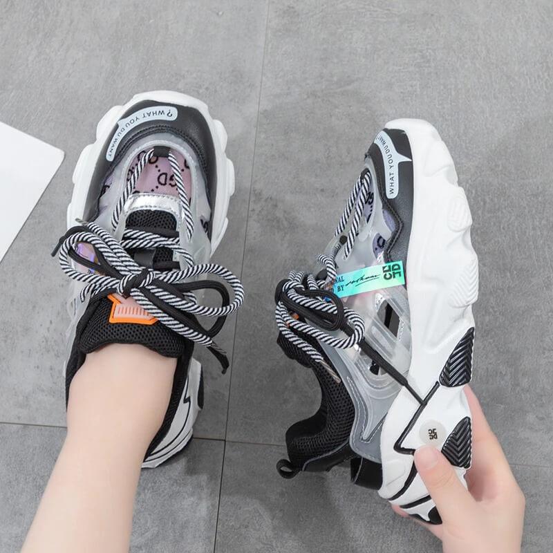 Female Nevada Designer Genuine Leather Chunky Sneaker Women Fashion