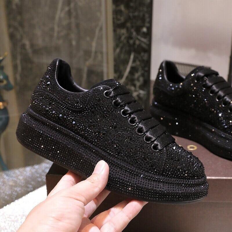 Women nevada Bling Rhinestone shoe, Fashion Casual sneaker Crystal Street for Ladies