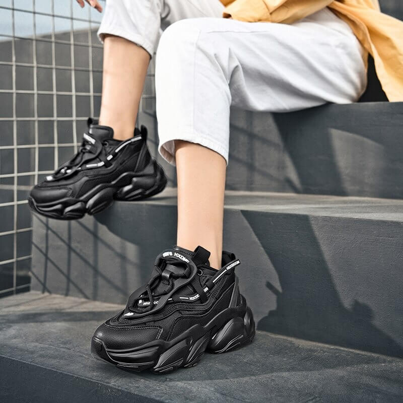 Unisex Sports Shoes Trend Chunky Sneakers Women Men Thick Sole Platform Casual Sneakers