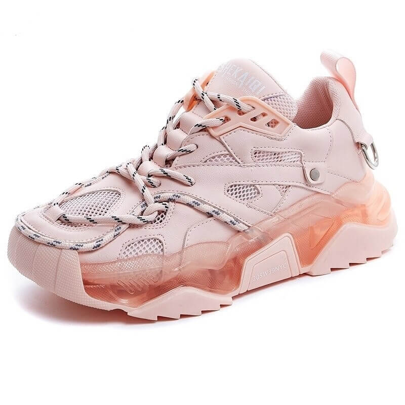 Women Fashion Sports Sneakers 2021 Newest Female Platform Chunky Pink Shoes Woman Summer Casual Mesh