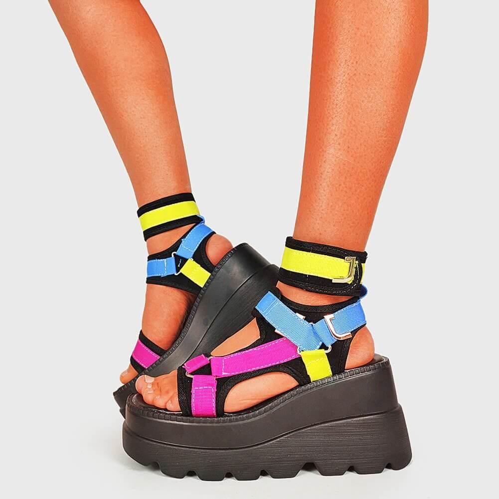 DORATASIA 2021 Brand New women's Platform Gladiator Sandals Ladies Mixed Colors Shoes Woman Wedges High Heels Summer Sandals