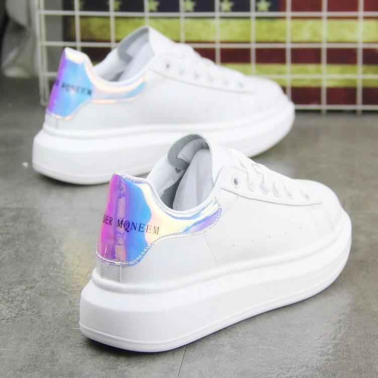 Male Women's skate new chic flat sandals Shoes streetwear women 2019 for girls White Shoes. Fashionable Leisure