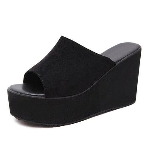 Summer Slip On Women Wedges Sandals Platform High Heels Fashion Open Toe Ladies Casual Shoes Comfortable Promotion Sale