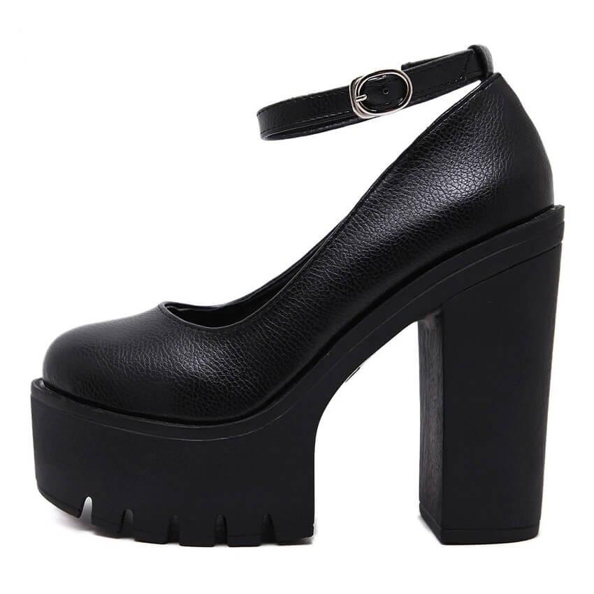 spring autumn casual high-heeled shoes sexy ruslana korshunova thick heels platform