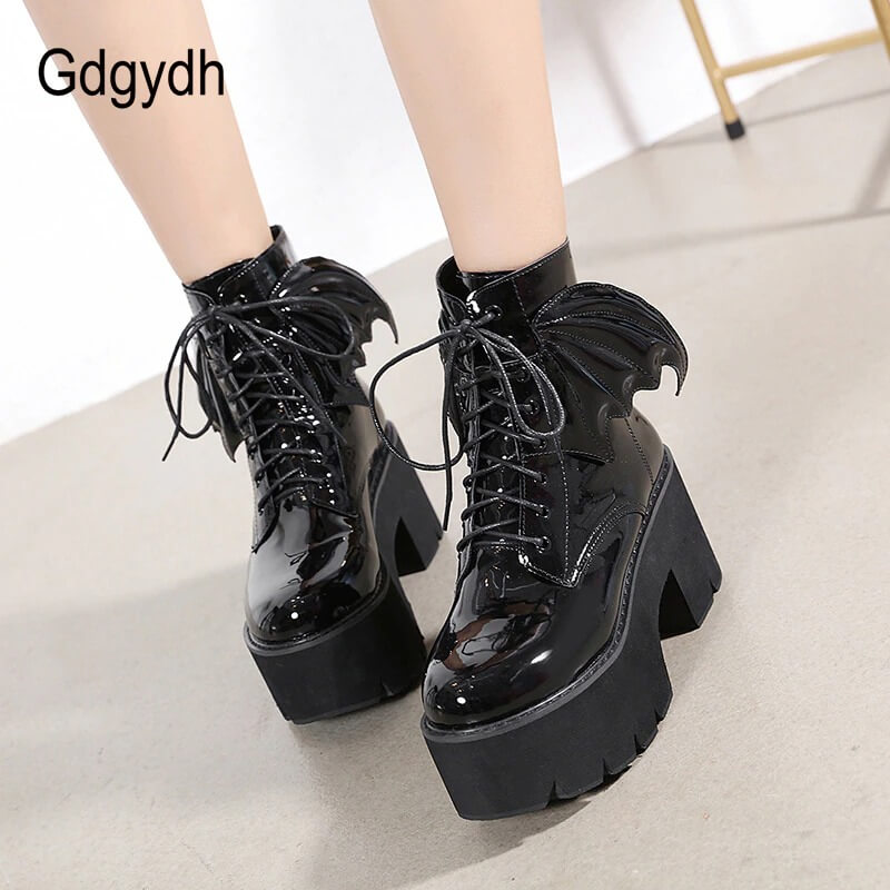 Women Nevada Angel Wing Ankle Boots High Heels