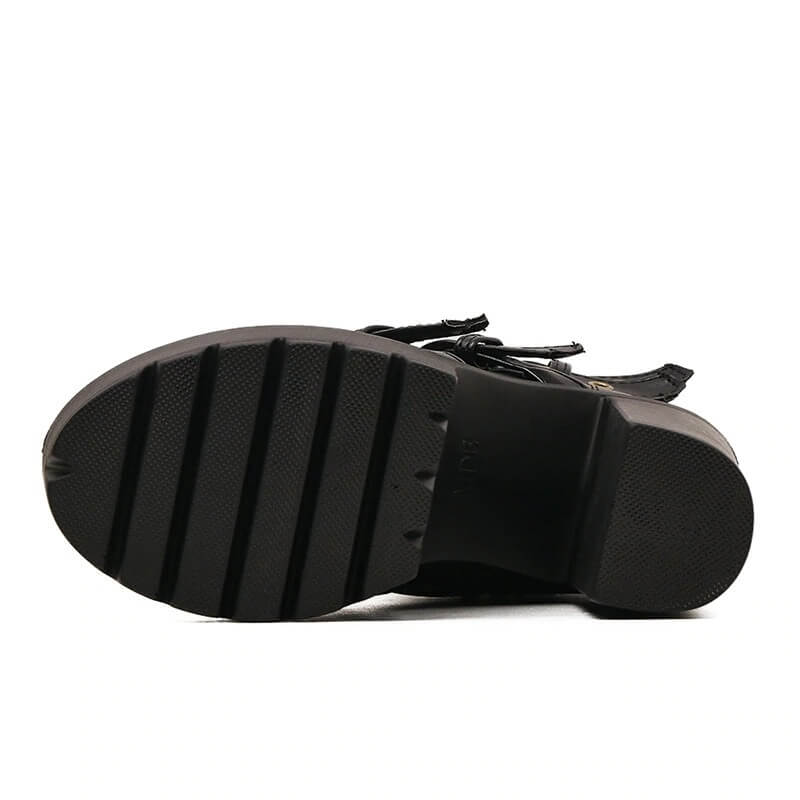Rivet Black Ankle Boots Women Platform Soft Leather Autumn Winter Ladies Boots With Zipper Ultra High Heels Shoes
