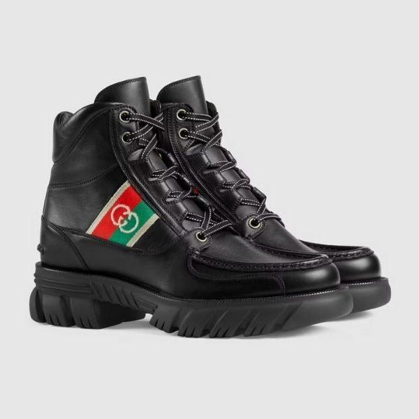 Luxury Men's ankle boot with Interlocking