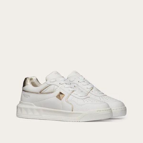 Luxury One Stud Low-Top Nappa Sneaker