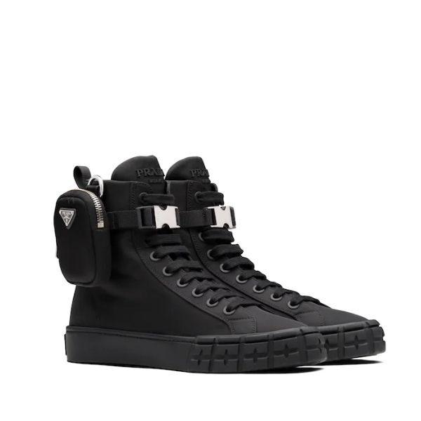Luxury Wheel Re-Nylon High-top Sneakers