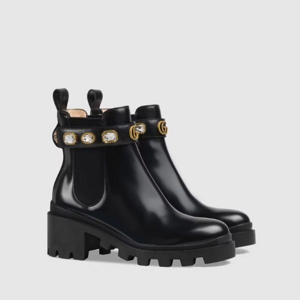 Luxury Women's ankle boot with belt