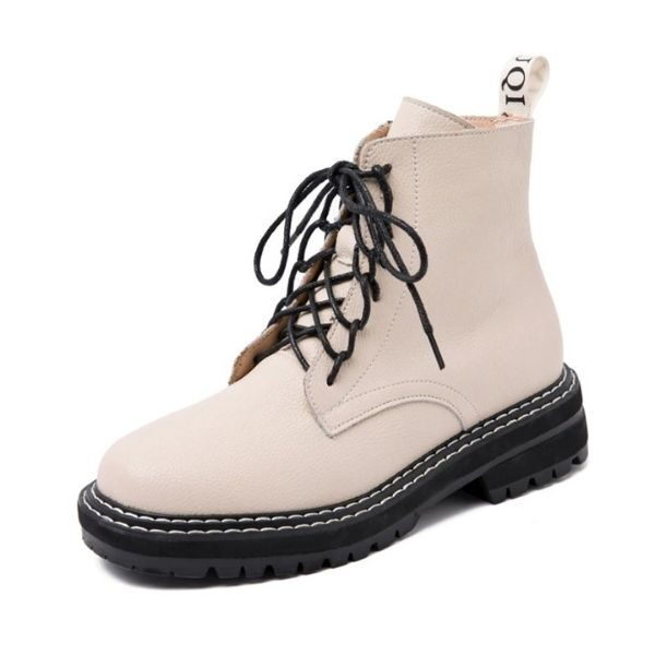 Women Boot Ankle British Wind Genuine Leather