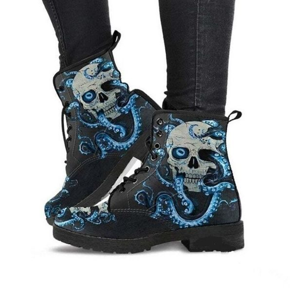 Shop Women's Leather Boot Print Skull – Cowgirl Shoes, from our luxury leathers in American And Uk craftsmanship.