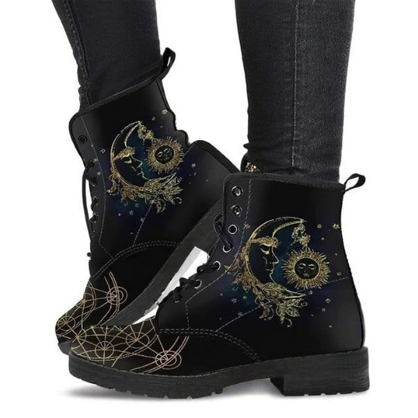 Women's Leather Boot Sun Moon - Cowgirl Shoes