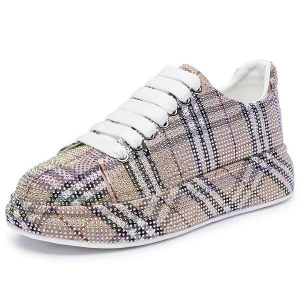 Women's Sneakers Glittering Rhinestone Shiny